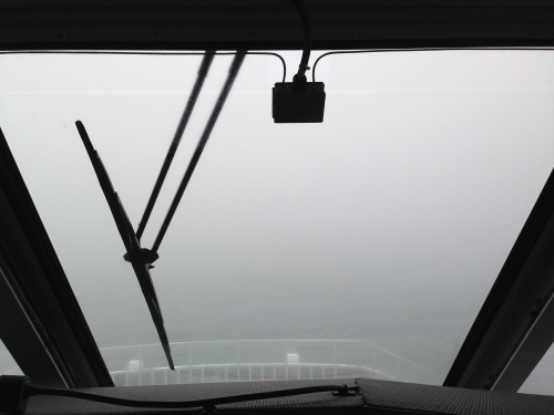 Fog. 30 Knots. Exciting.